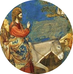 Jesus on a donkey