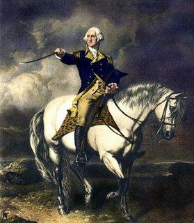 Washington on horse at Trenton